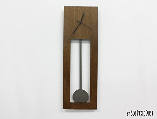 Bluntly Wood Wall Clock - Modern Grandfather Pendulum