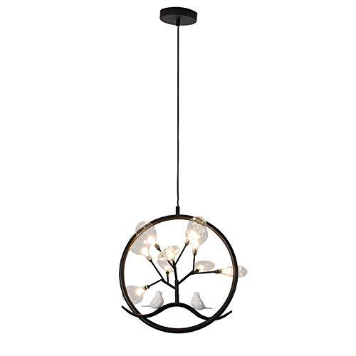 Tiffany Metal Workstation - Tlinksy Branch Chandelier Resin Bird Nordic Iron Glass Lampshade Pendant Light Restaurant Living Room Bedroom