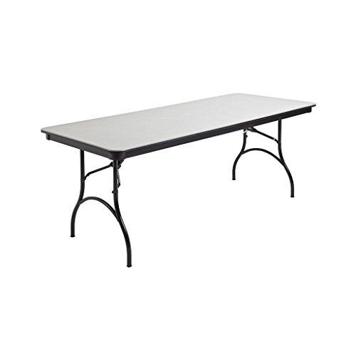 MityLite ABS Plastic 30''x72'' Folding Table (Grey) by Mitylite