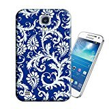 Lanshop Blue Flowers Design TPU Hard Phone Cases for Samsung Galaxy S4, Printed on