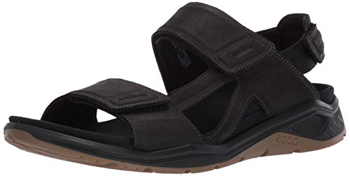 ECCO Men's X-Trinsic Sandal Black Leather 44 M EU (10-10.5 US) ()