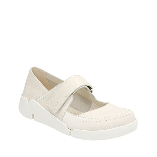 White Combination CLARKS Amanda Artisan Tri Off Leather nInZU86w