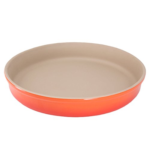 Glazed Sticks Orange (American Bakeware Deep Dish - Non Stick Ceramic Stoneware - Heat Resistant to 400 °F - No Metal, Lead, or other Harmful Materials - Safe for Ovens, Microwaves, Dishwasher, Made in the USA)