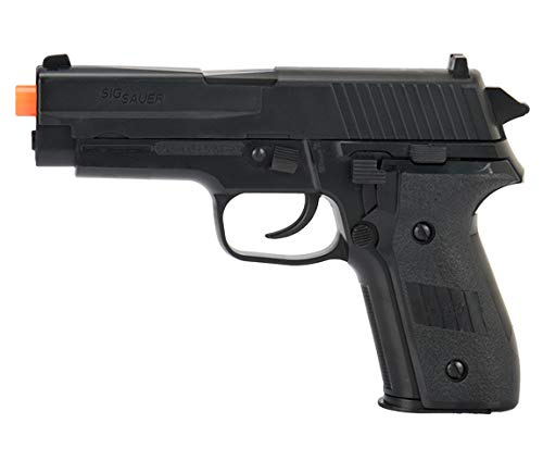 Sig_Sauer P228 Black Spring Airsoft Pistol W/ 6mm 0.12g Airsoft BBS(Color May Vary) (1 Pistol with 2 Bags of BBS) ()