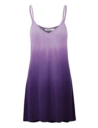 and V Womens Short Made Wdr1139 Spaghetti Strap Love in Dress USA LL Neck purple Tunic Lock gwRFanxa