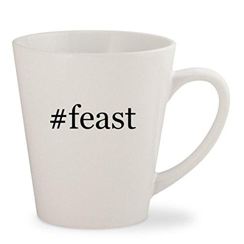 #feast - White Hashtag 12oz Ceramic Latte Mug Cup - Nigella Lawson Ceramic