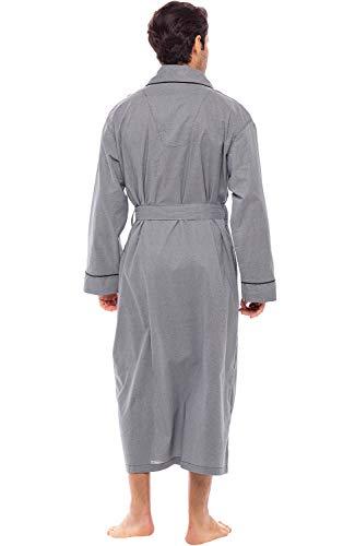 Men/'s Cotton Robe,Lightweight Woven Bathrobe,M Alexander Del Rossa Dark Blue