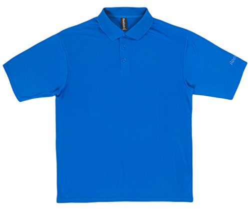 Mens Reebok Royal Match - Reebok Men's 3 Dyed-to-Match Buttons Polo Shirt, Royal, XXX-Large