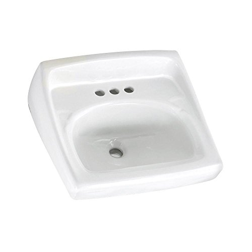 American Standard 0355012.020 0355.012.020 Wall-Mount Lavatory Sink, 1.25 in in, White