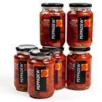 Blended Sweet Peppers (Peppadew Peppers - Mild - Value Bundle of 6 (84 ounce))