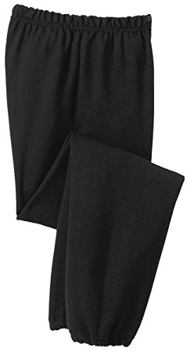 Gildan Heavy Blend Youth 8 oz., 50/50 Sweatpants, Large, BLA