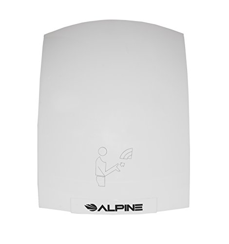 Alpine Hazel Automatic Hand Dryer | ABS Polycarbonate Hands Drying Device | Ultra-Quiet High Speed Hot Air Hand Blower | No Touch Operation | Easy & Fast Installation | With Infrared Sensor -  Alpine Industries, 402-10-WHI