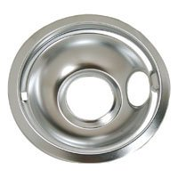 6' Part Number (Whirlpool Part Number W10196406: Bowl. Drip (6`` Chrome ))