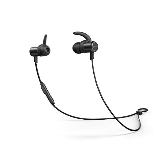 Anker SoundBuds Slim Wireless Workout Headphones,10-Hour Playtime, Lightweight Bluetooth 5.0, IPX7 Waterproof Magnetic Wireless Earbuds, Bluetooth Earbuds for Sports, Exercise, Running, Gym
