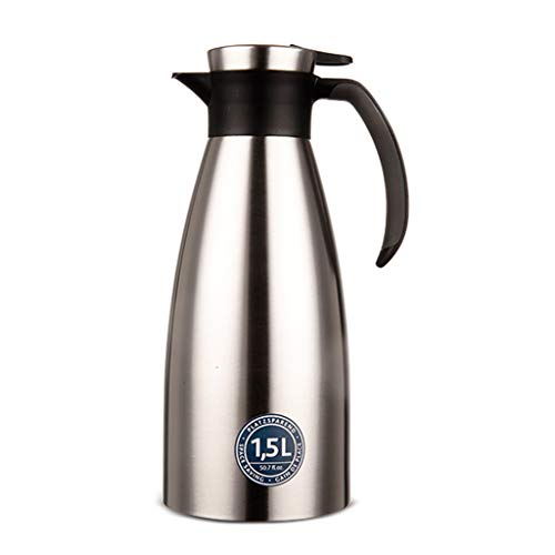 Thermal jug Food-grade Stainless Steel Thermal Carafe/Double Walled Vacuum Insulated Coffee Pot With Press Button Top,24+ Hrs Heat&Cold Retention,for Coffee,Tea,Beverage Etc (color : A)