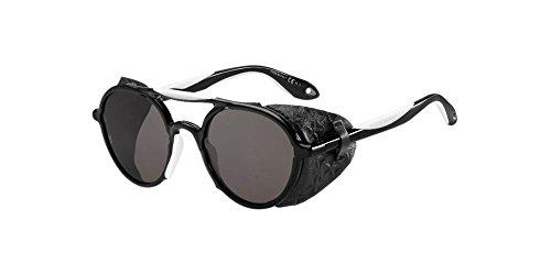 Lunettes de Soleil Givenchy GV 7038/S BLACK WHITE/BROWN GREY unisexe