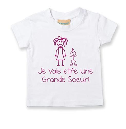 shirt � Être Vais 60 Blanc Second Sister Soeur Tout T Big Français Limited Enfants Tre Makeover I'm Bébé petit Je Grande nwwvgaq