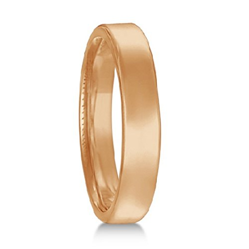 - Euro Dome Comfort Fit Wedding Ring Band 18k Rose Gold (3mm)