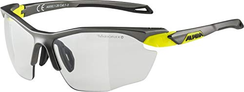 Alpina Unisex – Erwachsene Twist Five HR VL+ Sportbrille, tin matt-neon Yellow, one Size