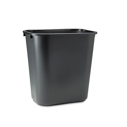 Rubbermaid Commercial 295600 BLA/DM Rubbermaid 295600BK Deskside Plastic Wastebasket, Rectangular, 7 gal, Black 7 gallon