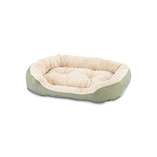Sleep Zone Faux Suede Step in Cuddler, Donut Dog Bed - Fabric Bottom - 21X17 Inches/Sage/Attractive, Durable, Comfortable, Washable. by Ethical Pets