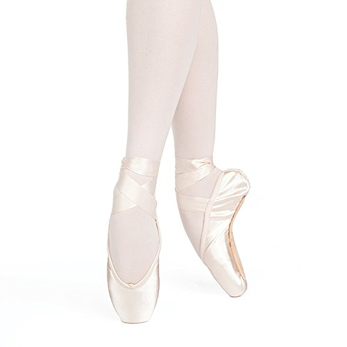 Costumes Russian And Dance (Russian Pointe Entrada Pro Pointe Shoes, U-Cut Flexible Medium Shank - Size 38, Width 4, Vamp)