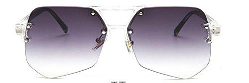 Gris en Progressive métal optique Noir transparent anti de mode télévision Incassable lunettes HYP de de avec fourmis objectif gray polarisées conduite UV400 Lunettes lunettes Lunettes 100 monture 46wz86