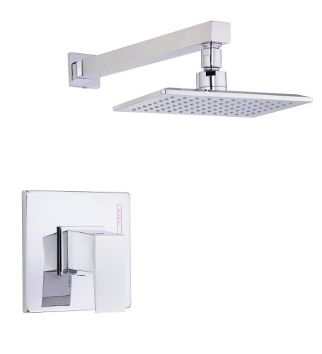 Chrome Single Shower - Danze D500562T Mid-Town Single Handle Shower Trim Kit, 2.5 GPM, Valve Not Included, Chrome