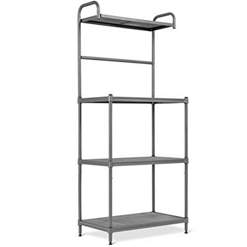 TimmyHouse Shelves Baker's Rack Microwave Oven Stand Kitchen Storage Rack Organizer 4-Tier]()