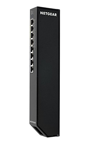NETGEAR 8-Port Gigabit Smart Managed Plus Click Switch, 47w 4xPoE+, ProSAFE Lifetime Protection (GSS108EPP)