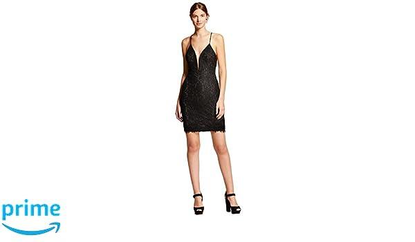 a11fc6c39c Renn Women s Strappy Lace Sheath Dress with Plunging Neckline (Medium