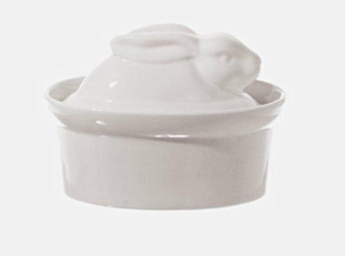 La Porcellana Bianca White Porcelain Rabbit Shaped Casserole Dish Terrine, 10x7cm P001501010 ()