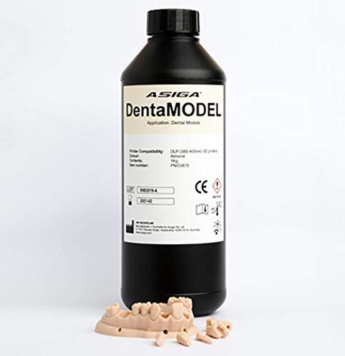 ASIGA 3D Printer Resin for DLP Printers, ASIGA DentaModel, 1 Liter, Resin Color: Almond, Resin Printer Compatibility: 385nm and 405nm