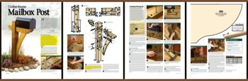 A Woodworking Plan with Instructions to Build a Timber Frame Mailbox Post