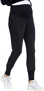 zenicham Women's Maternity Pants Super Soft Jogger Sweatpants with Poc