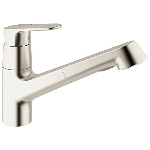 Grohe europlus single handle pull out sprayer kitchen faucet - Grohe kitchen faucets amazon ...