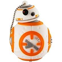 Star Wars BB8 Sculpted 8 GB USB Flashdrive Memory Stick with Keychain 8 gigabyte (LYU-08B7.FXV6)