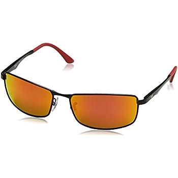 984b10c75b ... discount ray ban mens metal man polarized iridium rectangular sunglasses  matte black 61 mm 41ab4 94deb