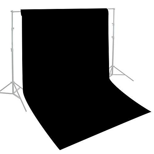 Julius Studio 10 x 10 ft. Photo Video Studio Seamless Solid Black Muslin Backdrop Photo Studio Background, JSAG275 by Julius Studio