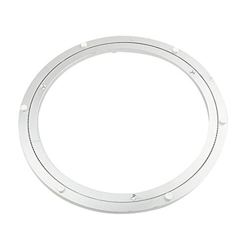 Flameer Aluminum Alloy Round Rotating Turntable Lazy Susan Bearing Table Swivel Plate Silver White Hardware 5