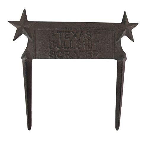 TG,LLC Metal Texas Star Bullshit Boot Scraper Western Lawn Art Garden Stake Yard Decor