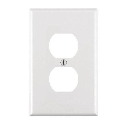 1-Gang Midway Duplex Outlet Wall Plate,Standard Size White (30 Pack)