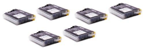 6 Pack - Toners & More ® Compatible Black Inkjet Cartridge for Brother LC-61 LC61 LC 61, LC-61BK Black, Compatible with Brother DCP-165C, DCP-585CW, DCP-375CW, DCP-385CW, DCP-395CN, DCP-J125, MFC-290C, MFC-490CW, MFC-5490CN, MFC-5890CN, MFC-6490CW, MFC-790CW, MFC-990CW, MFC-255CW, MFC-495CW, MFC-795CW, MFC-295CN, MFC-250C, MFC-6890CDW, MFC-J615W, MFC-J415W, MFC-J265w, MFC-5895CW, MFC-J220, MFC-J270W, MFC-J410W, MFC-J630W