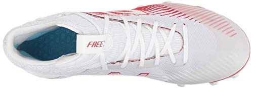 New Balance Men's Freeze V2 Agility Lacrosse Shoe, White/red, 14 2E US