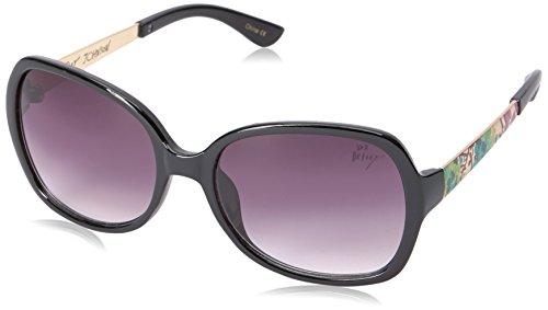 Betsey Johnson Women's Robyn Square Sunglasses, Black, 60 - Sunglasses Johnson Betsey Case