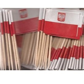 Poland Toothpick Flag Cupcake Toppers *Set of 20*