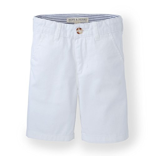 Hope & Henry Boys' White Twill Chino Shorts