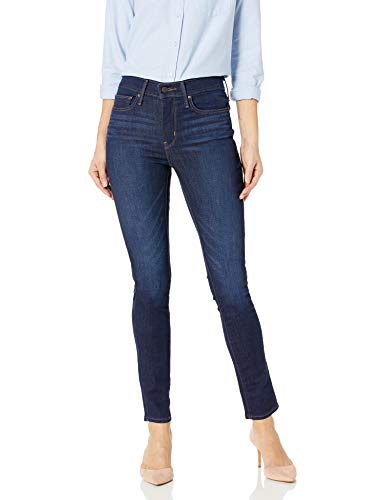 Levi's Women's Slimming Skinny Jeans, Underwater Canyon (89% Cotton, 9% Polyester, 2% Elastane), 30Wx30L (Best Skinny Jeans For Curvy Thighs)
