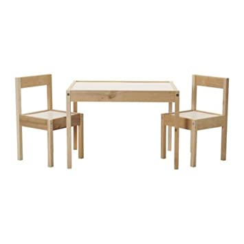 Ikea Latt Kindertisch Mit 2 Stuhlen Weiss Kiefer Amazon De Kuche