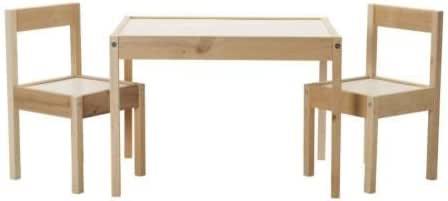 LÄTT - Mesa infantil con 2 sillas a juego de madera de pino, color ...